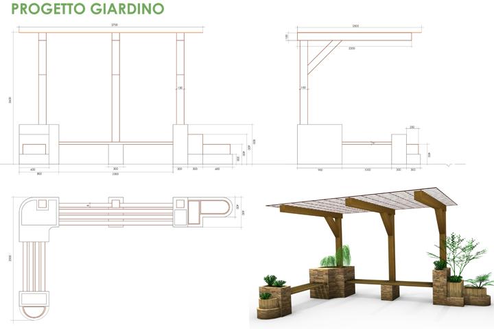 specifiche tecniche e render del progetto Giardino