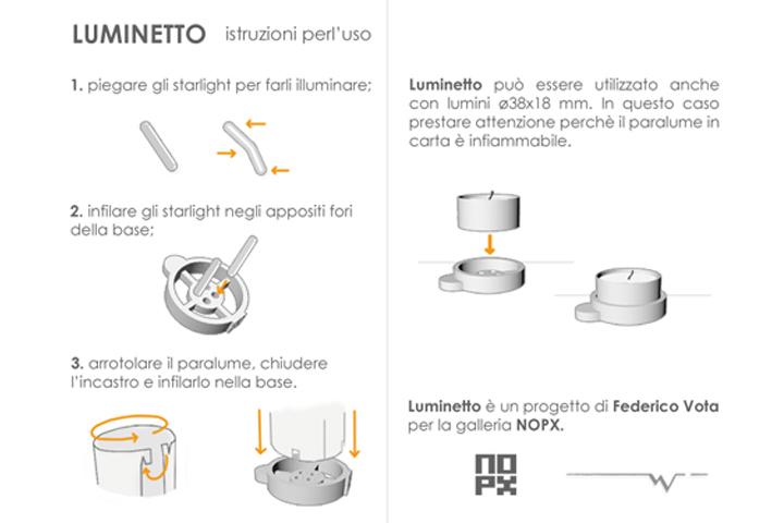 istruzioni  d'uso di Luminetto