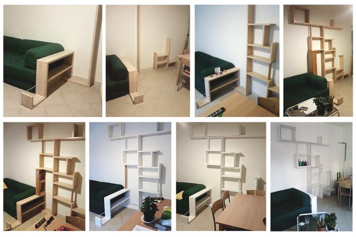fasi di realizzazione e allestimento presso abitazione privata