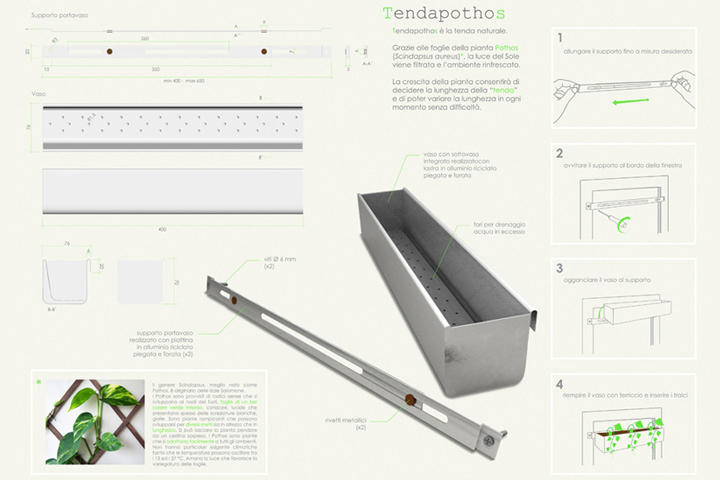 specifiche tecniche e modalità d'uso di Tendapothos