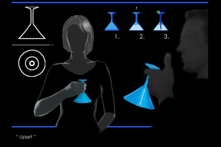 modalità d'uso del bicchiere Upset