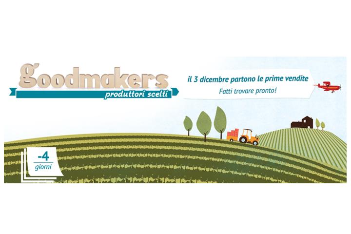 campagna promozionale per l'inizio delle vendite sul portale Goodmakers