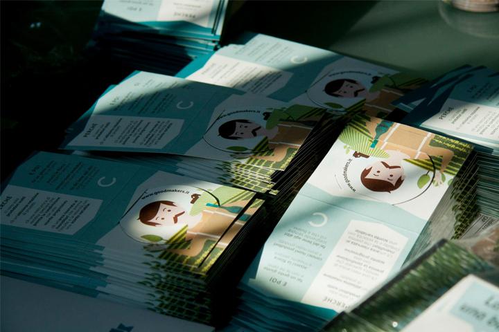materiale promozionale Goodmakers per il salone Slow Wine 2012