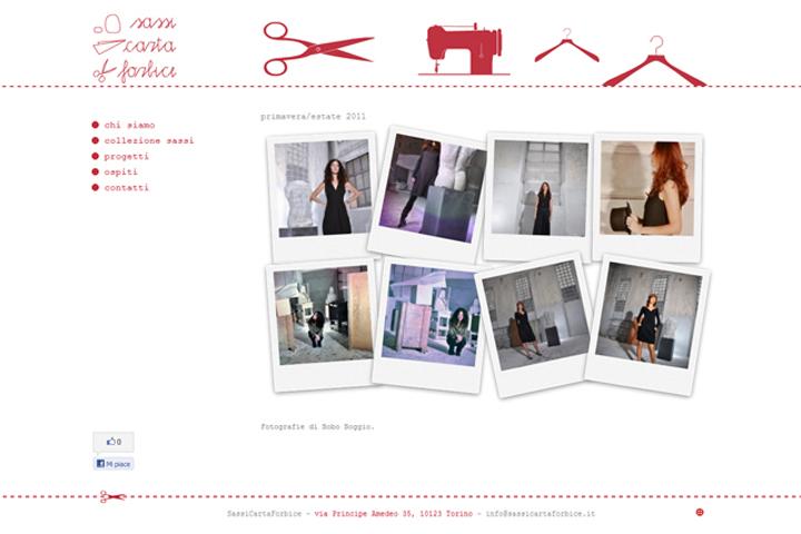 layout grafico sito web sassicartaforbice.it