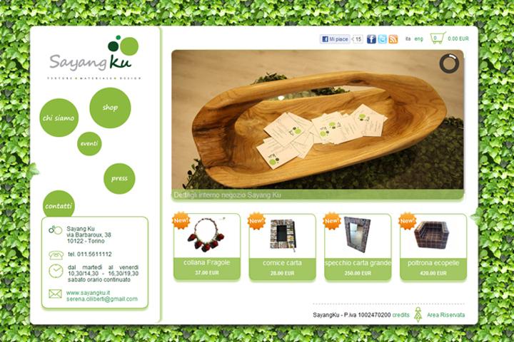 layout grafico sito web sayangku.it