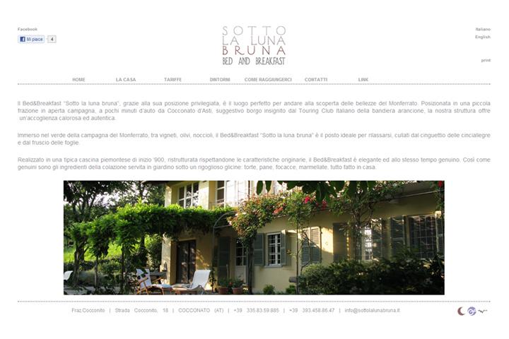 layout grafico del sito web sottolalunabruna.it