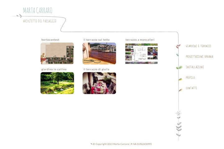 pagine interne del sito personale martacarraro.it