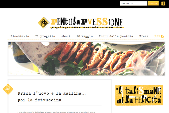 home page del blog pentolapvessione.it
