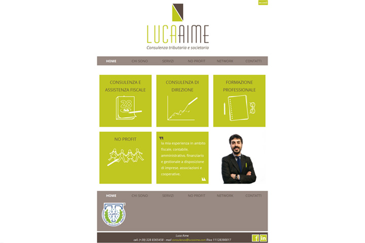 home page sito Luca Aime