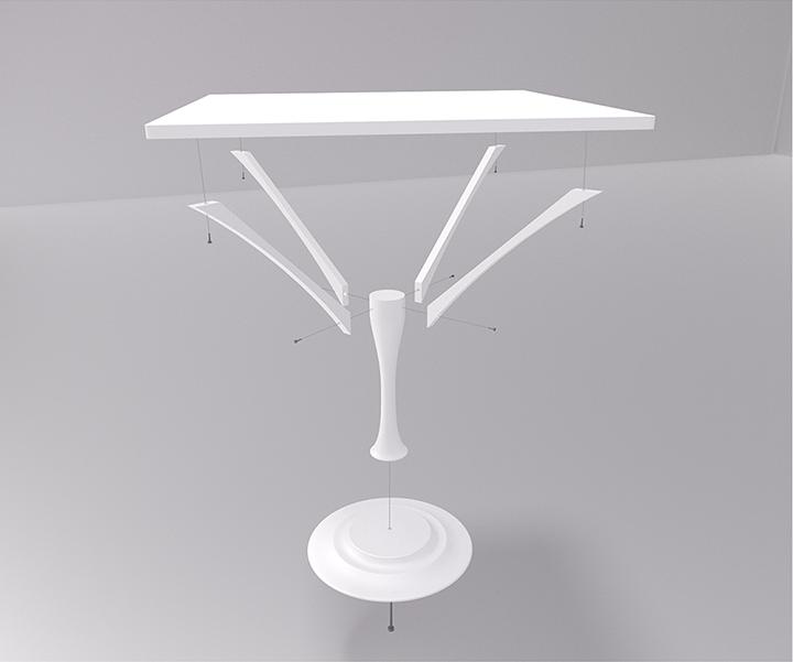 Componenti e connessioni del tavolo Amanito