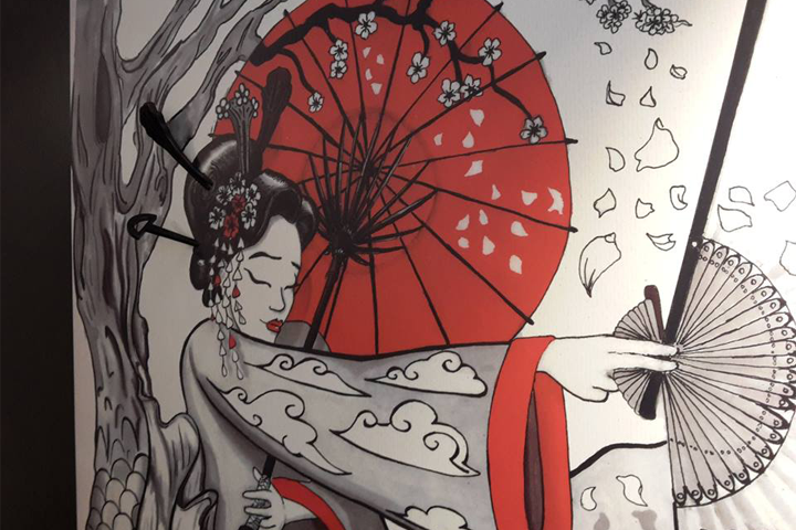 Stickers 3d per Kombu Sushi Ivrea